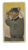 Baseball Cards:Singles (Pre-1930), 1909-11 T206 Hughie Jennings Two Hands, Rare Back. The Hall of Fame manager Hughie Jennings is portrayed with his usual fer...