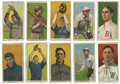 Baseball Cards:Lots, 1909-11 T206 Rare Back Group Lot of 10. Ten cards from the popularT206 tobacco issue are offered here, each with a rare ba...