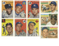 Baseball Cards:Lots, 1954-56 Topps Baseball Group Lot of 163. From two of their morepopular sets from a classic era in card collecting, we make...
