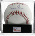 "Autographs:Baseballs, Ernie Banks Single Signed Baseball, PSA Gem Mint 10. Absolutely stunning single from the man who said ""Let's play two!"" Ba..."