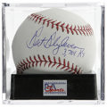"Autographs:Baseballs, Bert Blyleven ""3,701 Ks"" Single Signed Baseball, PSA Mint+ 9.5.Great single announces Blyleven's inclusion in the hallowed..."