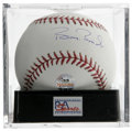 Autographs:Baseballs, Barry Bonds Single Signed Baseball, PSA Mint+ 9.5. Near-perfectexample form the man who is approaching the all-time home r...