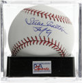 "Autographs:Baseballs, Steve Carlton ""Lefty"" Single Signed Baseball, PSA Gem Mint 10.Member of the 300 win club, as well as another exclusive clu..."