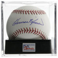 Autographs:Baseballs, Harmon Killebrew Single Signed Baseball, PSA Gem Mint 10. One ofthe premier power hitters in baseball's fine history, Harm...