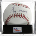 Autographs:Baseballs, Greg Maddux Single Signed Baseball, PSA NM-MT+ 8.5. Fine examplefrom Maddux, a pitcher who has become known for his consis...