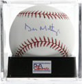 Autographs:Baseballs, Don Mattingly Single Signed Baseball, PSA Gem Mint 10. Absolutelyunimprovable example of the great Yankee's sweet spot sig...