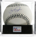 Autographs:Baseballs, 2001 Cal Ripken, Jr. Single Signed All-Star Game Baseball, PSAMint+ 9.5. Special Official All-Star Game baseball with spec...