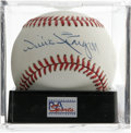 Autographs:Baseballs, Willie Stargell Single Signed Baseball, PSA NM-MT 8. Great singlefrom Pops. Ball has been encapsulated by PSA/DNA for pro...