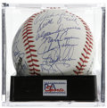 Autographs:Baseballs, 1989 New York Mets Team Signed Baseball, PSA Gem Mint 10. Stunningteam signed ball from the '89 Mets, offering 29 perfect ...