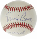 "Autographs:Baseballs, Ernie Banks ""Mr. Cub"" Single Signed Baseball. Ernie Banks was knownfor his happy go lucky attitude, apparent by his popula..."
