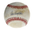 "Autographs:Baseballs, Don Drysdale Single Signed Baseball. The HOF brushback pitcher DonDrysdale, known as ""Big D,"" has made his perfect sweet s..."