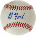 Autographs:Baseballs, Gerald Ford Single Signed Baseball. Residing on this OAL (Budig)baseball is a signature from our 38th President Gerald For...