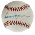 Autographs:Baseballs, Reggie Jackson Single Signed Baseball. Mr. October applies hisperfect blue ink signature to the sweet spot of this OAL (Br...