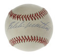 Autographs:Baseballs, Eddie Mathews Single Signed Baseball. Eddie Mathews was a fabulousthird baseman, known for his exceptional swing as well h...