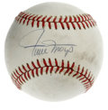 Autographs:Baseballs, Willie Mays Single Signed Baseball. Perhaps the finest five-toolplayer to ever take to the diamond, the amazing Willie May...