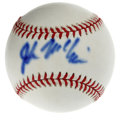 Autographs:Baseballs, John McCain Single Signed Baseball. Yet another popular singlesigned ball featuring a US politician, the offered orb here ...