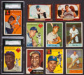 Baseball Cards:Lots, 1952 to 1955 Topps and Bowman Baseball Card Collection (98). ...