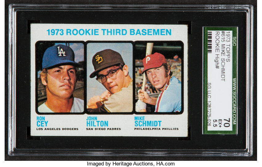 1973 Topps Mike Schmidtcey Rookie 615 Sgc 70 Ex 55