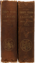 Books:Americana & American History, Thomas Benton. Thirty Years in the U.S. Senate. New York: D.Appleton, 1854. Two octavo volumes. Publisher's cloth b... (Total:2 Items)