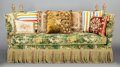 Furniture , A KNOLE UPHOLSTERED SOFA . Second half 20th century. 43 x 81 x 35-1/2 inches (109.2 x 205.7 x 90.2 cm). ...