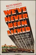 """Movie Posters:War, We've Never Been Licked (Universal, 1943). One Sheet (27"""" X 41"""")Style D. War.. ..."""