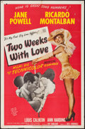 """Movie Posters:Comedy, Two Weeks with Love (MGM, 1950). One Sheet (27"""" X 41"""") & Title Lobby Card (11"""" X 14""""). Comedy.. ... (Total: 2 Items)"""