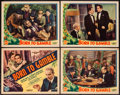 "Movie Posters:Adventure, Born to Gamble (Liberty Pictures, 1935). Title Lobby Card &Lobby Cards (3) (11"" X 14""). Adventure.. ... (Total: 4 Items)"