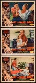 "Movie Posters:Science Fiction, Day the World Ended (American Releasing Corp., 1956). Lobby Cards(3) (11"" X 14""). Science Fiction.. ... (Total: 3 Items)"