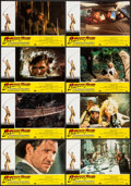 "Movie Posters:Adventure, Indiana Jones and the Temple of Doom (Paramount, 1984). SpanishLobby Cards (11) (9.5"" X 13.5""). Adventure.. ... (Total: 11 Items)"