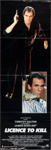 "Movie Posters:James Bond, Licence to Kill (United International Pictures, 1989). Door Panel (20"" X 60""). James Bond.. ..."