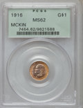 Commemorative Gold: , 1916 G$1 McKinley MS62 PCGS. PCGS Population (379/3754). NGCCensus: (272/1985). Mintage: 9,977. Numismedia Wsl. Price for ...
