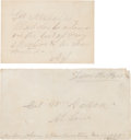 Autographs:U.S. Presidents, Andrew Johnson Autograph Note Signed... (Total: 2 Items)