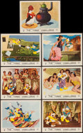 """Movie Posters:Animation, The Three Caballeros (RKO, 1945). British Front of House Cards (7) (8"""" X 10""""). Animation.. ... (Total: 7 Items)"""