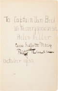 Autographs:Authors, Helen Keller Inscribed Book Signed....