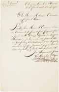Autographs:Non-American, King Charles XIV John of Sweden and Norway Document Signed...