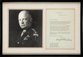 Autographs:U.S. Presidents, Dwight D. Eisenhower Typed Letter Signed....