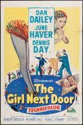 """Movie Posters:Comedy, The Girl Next Door (20th Century Fox, 1953). One Sheet (27"""" X 41""""). Comedy.. ..."""