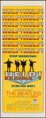 """Help! (United Artists, 1965). Insert (14"""" X 36""""). Rock and Roll"""