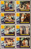"Movie Posters:War, Submarine Seahawk (American International, 1958). Lobby Card Set of8 (11"" X 14""). War.. ... (Total: 8 Items)"