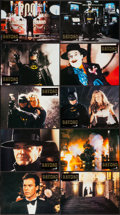 "Movie Posters:Action, Batman (Warner Brothers, 1989). German Lobby Card Set of 16 (8.5"" X11.5""). Action.. ... (Total: 16 Items)"