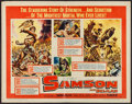 """Movie Posters:Adventure, Samson and Delilah & Other Lot (Paramount, R-1959). Half Sheet(22"""" X 28""""), One Sheet (27"""" X 41"""") & Lobby Cards (4) (11"""" X1... (Total: 6 Items)"""