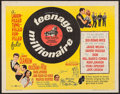 "Movie Posters:Rock and Roll, Teenage Millionaire (United Artists, 1961). Half Sheet (22"" X 28"").Rock and Roll.. ..."