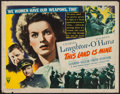 "Movie Posters:War, This Land is Mine (RKO, 1943). Half Sheet (22"" X 28""). War.. ..."