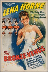 """The Bronze Venus (Toddy Pictures, R-1943). One Sheet (27"""" X 41""""). Black Films"""