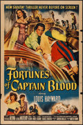 """Movie Posters:Swashbuckler, Fortunes of Captain Blood & Others Lot (Columbia, 1950). One Sheet (27"""" X 41""""), Title Lobby Card & Lobby Cards (9) (11"""" X 14... (Total: 11 Items)"""
