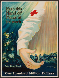"World War I (American Red Cross, 1918). War Fund Week American Red Cross Poster (20.5"" X 27.5"") ""Keep Thi..."