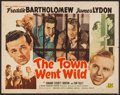 "Movie Posters:Comedy, The Town Went Wild & Other Lot (PRC, 1945). Half Sheet (22"" X 28""), & Trimmed Three Sheet (39.5"" X 62""). Comedy.. ... (Total: 2 Items)"