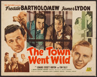 "The Town Went Wild & Other Lot (PRC, 1945). Half Sheet (22"" X 28""), & Trimmed Three Sheet (39.5""..."