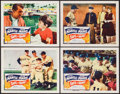 "Movie Posters:Sports, Safe at Home (Columbia, 1962). Lobby Cards (4) (11"" X 14""). Sports.. ... (Total: 4 Items)"