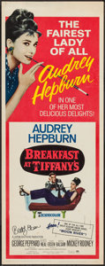 """Movie Posters:Romance, Breakfast at Tiffany's (Paramount, R-1965). Autographed Insert (14"""" X 36""""). Romance.. ... (Total: 2 Items)"""